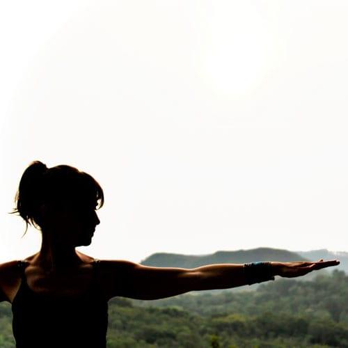 posição de yoga